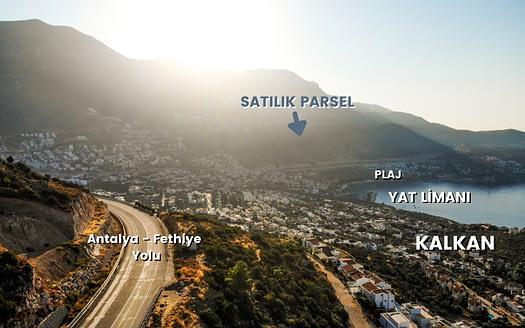 Antalya Kaş Kalkanta satılık arazi